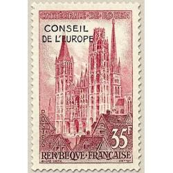 1 عدد تمبر شورای اروپا - سورشارژ - فرانسه 1958