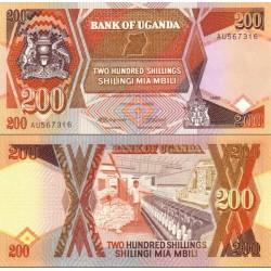 اسکناس 200 شلینگ - اوگاندا 1987
