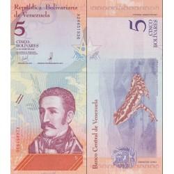 اسکناس 5 بولیوار - ونزوئلا 2018