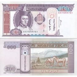 اسکناس 100 تغریک مغولستان 2000