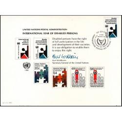 مهر روز سال بین المللی معلولین  - ژنو - سازمان ملل 1981