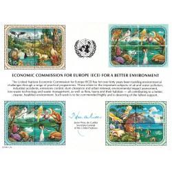مهر روز حفاظت محیط زیست  - ژنو - سازمان ملل 1991 ارزش تمبر 11 دلار