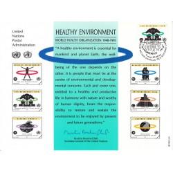 مهر روز 45مین سالگرد سازمان بهداشت جهانی - WHO  - ژنو - سازمان ملل 1993