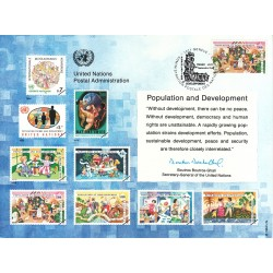 مهر روز جمعیت و توسعه  - ژنو - سازمان ملل 1994