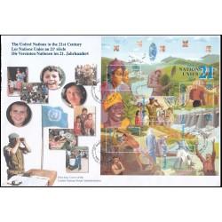 1 عدد پاکت مهر روز سازمان ملل در قرن بیست و یکم  - ژنو - سازمان ملل 2000  سایز بزرگ