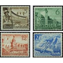 4 عدد تمبر نمایشگاه بهاره لایپزیک - رایش آلمان 1940 با شارنیه
