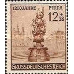 1 عدد تمبر 1200مین سالگرد فولدا - رایش آلمان 1944 با شارنیه