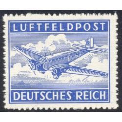 1 عدد تمبر پست هوائی - پست نظامی - رایش آلمان 1942