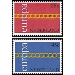 2 عدد تمبر مشترک اروپا - Europa Cept - هلند 1971
