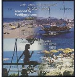 سونیرشیت تمبر مشترک اروپا - Europa Cept - تعطیلات- بیدندانه - قبرس ترکیه 2004