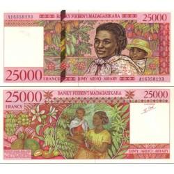 اسکناس 25000 فرانک - 5000 آریاری - ماداگاسکار 1998