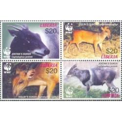 4 عدد تمبر WWF - حفاظت از طبیعت جهان - لیبریا 2005
