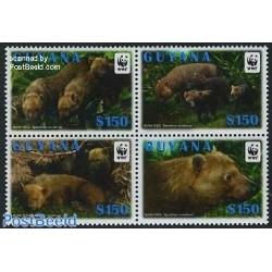 4 عدد تمبر WWF -  بوشداگ - گویانا 2011