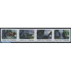 4 عدد تمبر WWF -  خفاشها - B - آنگولا 2009 قیمت 7 دلار