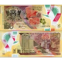 اسکناس پلیمر 50 دلار - ترینیداد توباگو 2015 چاپ دلارو لندن