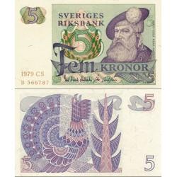 اسکناس 5 کرون - سوئد 1979