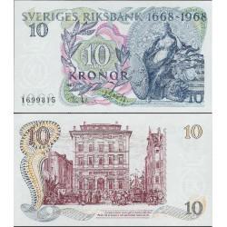 اسکناس 10 کرون  - یادبود 300مین سال تاسیس رایزبنک - سوئد 1968
