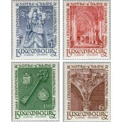 4 عدد تمبر سیصدمین سال بانوی لوگزامبورگ - لوگزامبورگ 1966