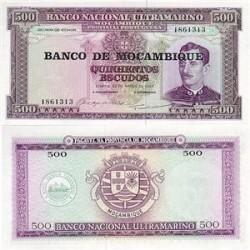 اسکناس 500  اسکودو  موزامبیک 1976 تک