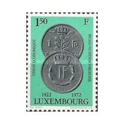 1 عدد تمبر 50مین سال اتحادیه اقتصادی لوگزامبورگ و بلژیک - لوگزامبورگ 1972