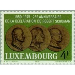 1 عدد تمبر 25مین سالگرد اعلامیه رابرت شومن - لوگزامبورگ 1975
