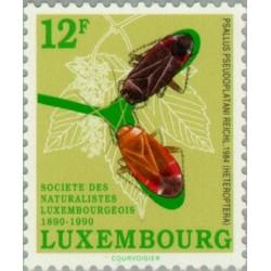 1 عدد تمبر صدمین سال انجمن متخصصان طبیعت لوگزامبورگ - لوگزامبورگ 1990