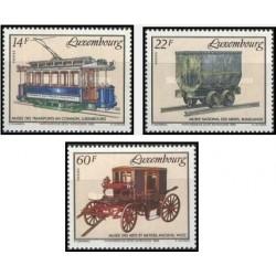 3 عدد تمبر موزه ها - لوگزامبورگ 1993