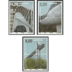 3 عدد تمبر معماری و پویایی - لوگزامبورگ 2012 ارزش روی تمبر 7.4 یورو ارزش کاتالوگ16.3 دلار