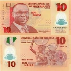 اسکناس پلیمر 10 نایرا نیجریه  2009 تک