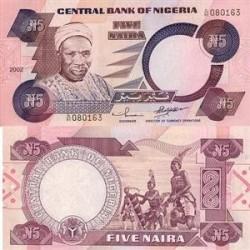 اسکناس 5 نایرا - نیجریه 2002