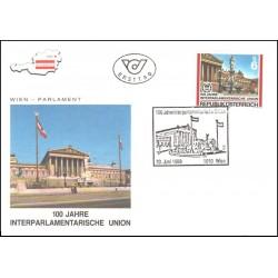 پاکت مهر روز  اتحادیه بین المجالس - اتریش 1989
