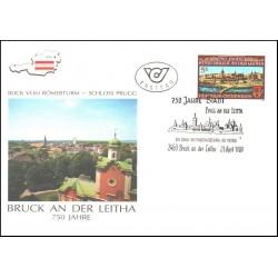 پاکت مهر روز  750 سال شهر براک اندر لیتا - اتریش 1989