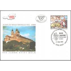پاکت مهر روز نهصدمین سال صومعه ملک - اتریش 1989