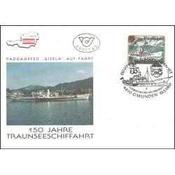 پاکت مهر روز کشتیرانی در تراونسی - اتریش 1989