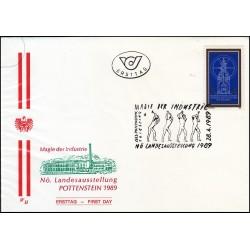 پاکت مهر روز نمایشگاه صنعتی پوتنستین - اتریش 1989