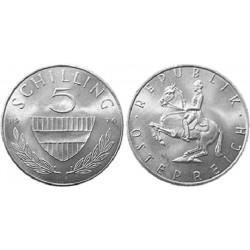 سکه 5 شیلینگ - نیکل مس - اتریش 1969 غیر بانکی