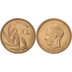 سکه 20 فرانک - نیکل برنز - بلژیک 1981 غیر بانکی