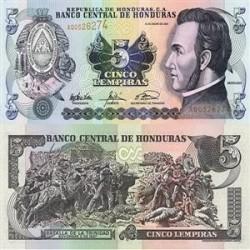 اسکناس 1 لمپیرا هندوراس 2003 تک
