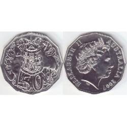 سکه 50 سنت - نیکل مس - استرالیا 2007 غیر بانکی
