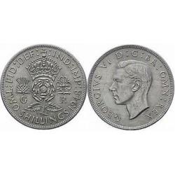 سکه 2 شیلینگ - نیکل مس - انگلیس 1948 غیر بانکی