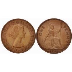 سکه 1 پنی برنزی - انگلیس 1966 غیر بانکی