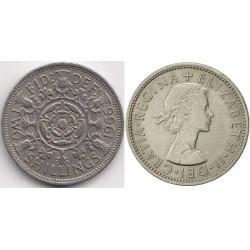 سکه 2 شیلینگ - نیکل مس - انگلیس 1966 غیر بانکی