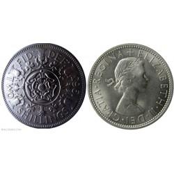 سکه 2 شیلینگ - نیکل مس - انگلیس 1963 غیر بانکی