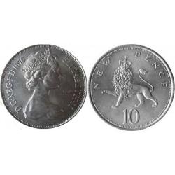 سکه 10 پنس نیکل مس - انگلیس 1976 غیر بانکی