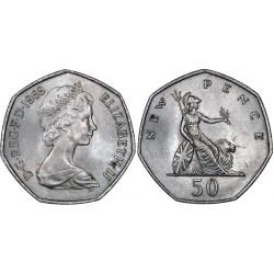 سکه 50 پنس - نیکل مس - انگلیس 1969 غیر بانکی