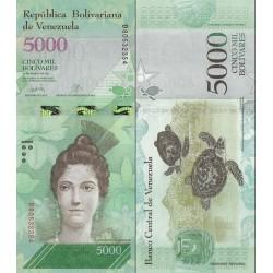 اسکناس 5000 بولیوار - ونزوئلا 2017 تاریخ 23.03.2017
