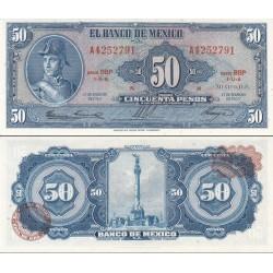 اسکناس 50 پزو - مکزیک 1965 تاریخ 17 فوریه