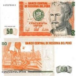 اسکناس 50 اینتیس پرو 1987