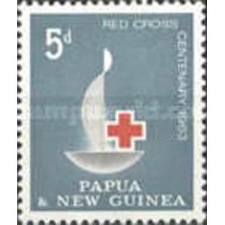 1 عدد تمبر صدمین سالگرد صلیب سرخ - پاپوا گینه نو 1963