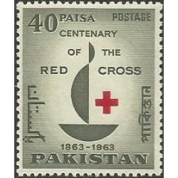 1 عدد تمبر صدمین سالگرد صلیب سرخ - پاکستان 1963